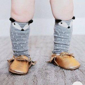 3/$30 Adorable Gray Baby Fox Socks